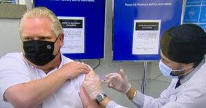 Premier Doug Ford receives AstraZeneca COVID-19 vaccination