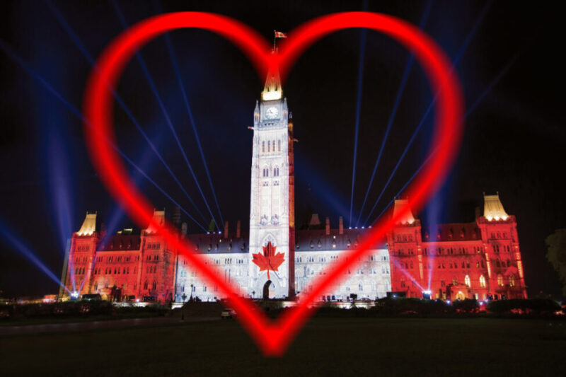 Northern Lights — Sound and light show on Parliament Hill